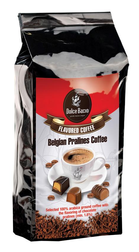 Cafea cu gust de praline belgiene de ciocolata